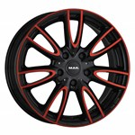 Felgi MAK Black & Red