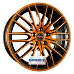 Felgi BORBET Black Orange Glossy