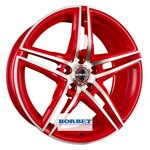 Felgi BORBET Racetrack Red Polished