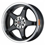 Felgi DRAG WHEELS gloss black machined lip